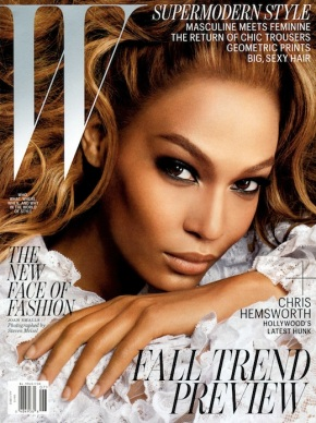 SuperModel Joan Smalls Covers W Magazine.