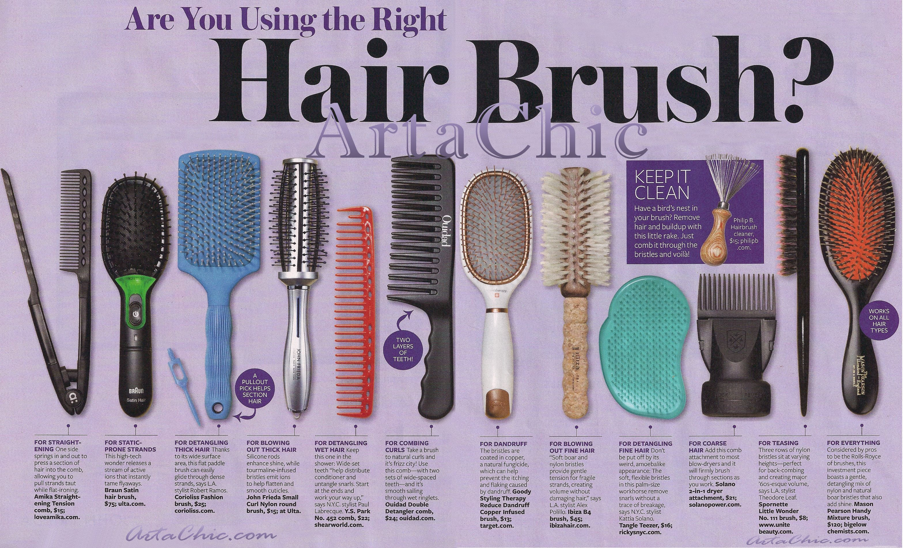 Are you using the right combs brushes for your hair arta chic this urmus Choice Image