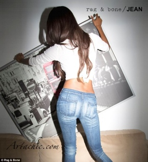 Jourdan Dunn Shows Us Her Bum For Rag and Bone DIY Campaign