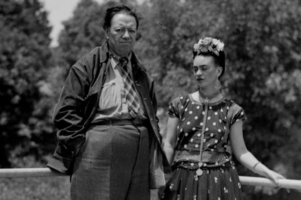 Frida Kahlo with husband and fellow painter Diego Rivera