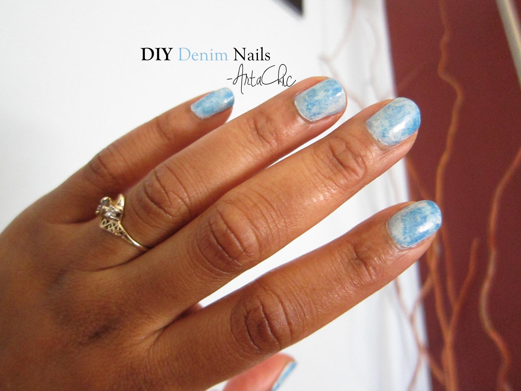 Easy To Do Denim Matte Nails   Arta Chic