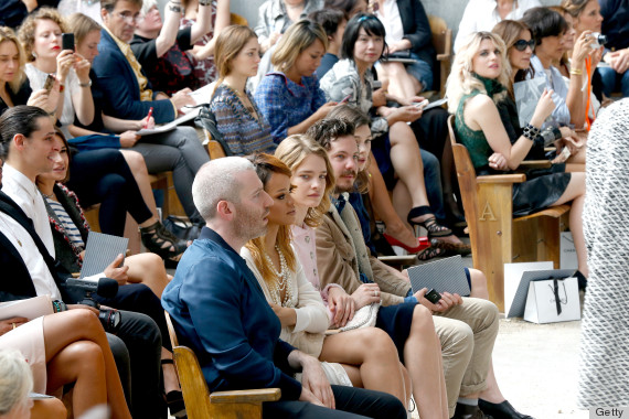 Chanel: Front Row - Paris Fashion Week Haute-Couture F/W 2013-2014