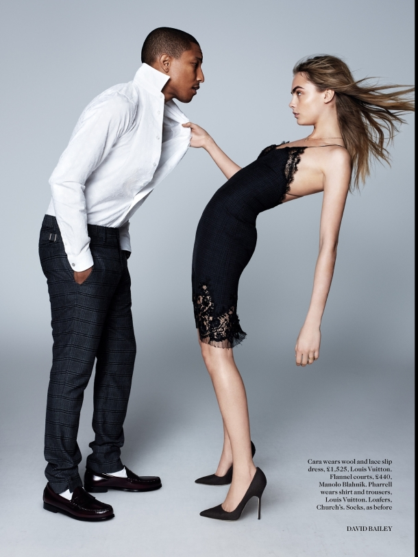 1-Pharrell-Williams-and-Cara-Delevingne-by-David-Bailey-for-Vogue-UK-September-2013-