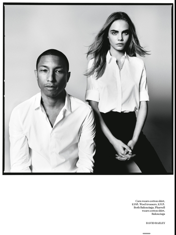 4-Pharrell-Williams-and-Cara-Delevingne-by-David-Bailey-for-Vogue-UK-September-2013-