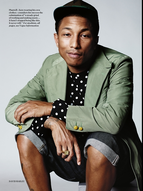 Pharrell-Williams-and-Cara-Delevingne-by-David-Bailey-for-Vogue-UK-September-2013-