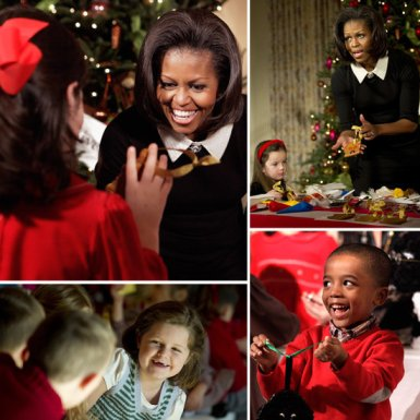 Michelle-Obama-Hosts-Military-Families-Christmas