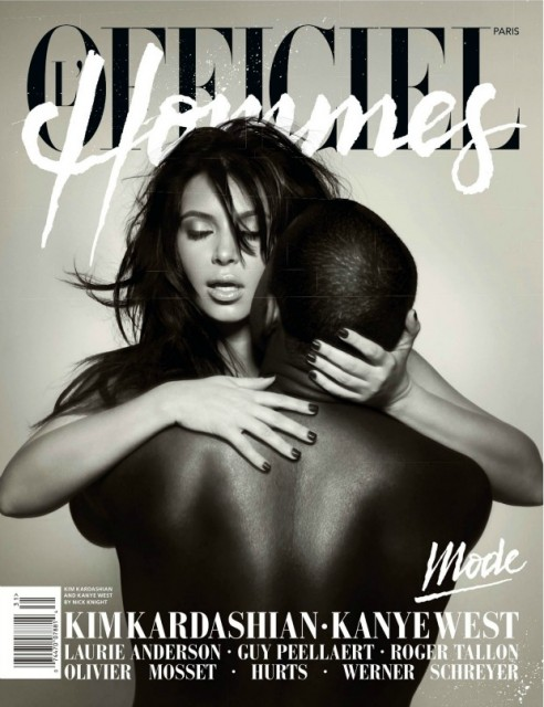 Kim-Kardashian-Kanye-West-L-Officiel-Hommes-Magazine-Cover-492x640
