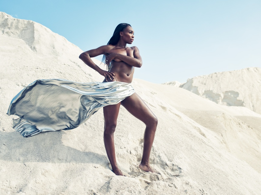 VENUS WILLIAMS-MARCH 4, 2014 LOCATION: CONRAD YELVINGTON ROCK QUARRY, MIAMI FL PHOTOGRAPHER: WILLIAMS AND HIRAKAWA HAIR: ANGELA MEADOWS MAKEUP: NATASHA GROSS MANICURIST: DONNA D/TIMOTHY PRIANO PROP STYLING: TODD WIGGINS/MARY HOWARD STUDIO
