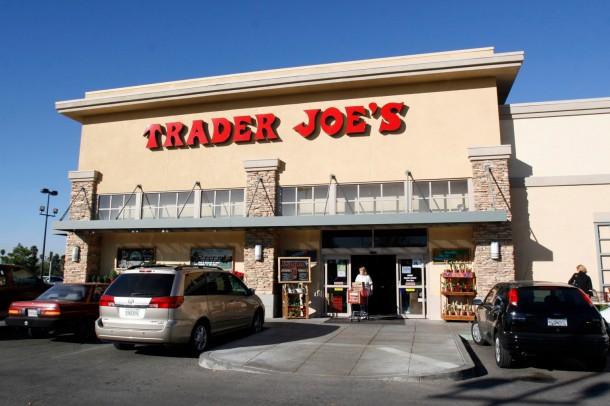 UNITED STATES - NOVEMBER 30: A Trader Joe's store in Riverside, CA, November 30, 2006. Trader Joe's is a chain of grocery stores that will be affected by Tesco's move into the United States. Cheshunt, England-based Tesco Plc plans to create a U.S. convenience store brand, taking on chains such as 7-Eleven Inc. and locally run grocers for the money spent by Southern California's time-pressed shoppers. (Photo by Francis Specker/Bloomberg via Getty Images)