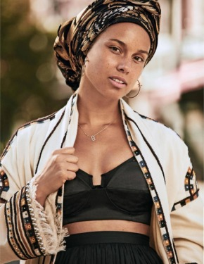 Alicia Keys Goes Makeup Free For Grazia France Magazine