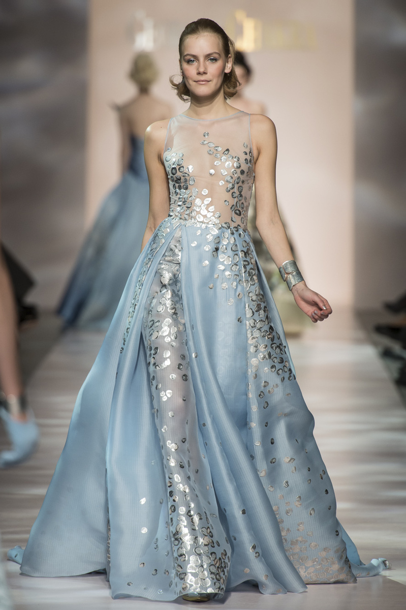 Model wears a creation by  Georges Chakra, Haute Couture, summer 2015