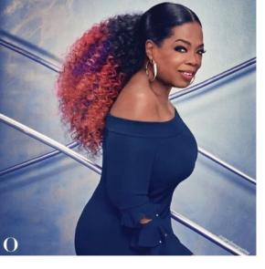 Oprah Works Her Rainbow Ponytail For O'Magazine